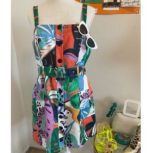 Parker Weslyn Sleeveless Button Cargo Pocket Dress